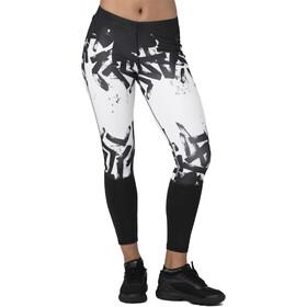 asics 7/8 Tights - Short running Femme - blanc/noir